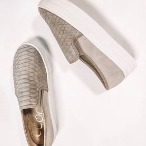 SNAKESKIN TAUPE SHOES